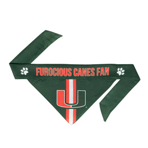Miami Hurricanes Pet Bandana- Tie On - Yip & Purr® Official Website