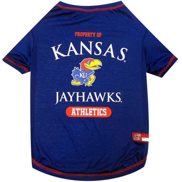 Kansas JayhawksPet Tee Shirt - Yip & Purr® Official Website