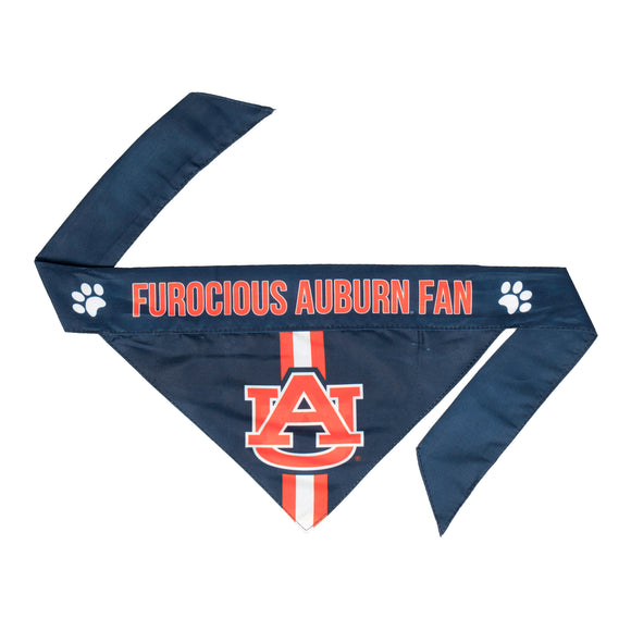 Univeristy of Auburn Pet Bandana- Tie On - Yip & Purr® Official Website