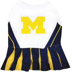 Michgian Wolverines Cheerleader Pet Dress - Yip & Purr® Official Website