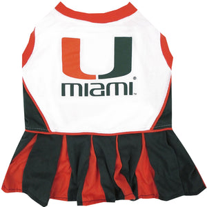 Miami Hurricanes Cheerleader Pet Dress - Yip & Purr® Official Website