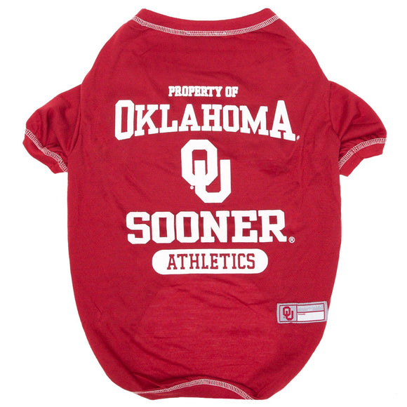 Oklahoma Sooners Pet Tee Shirt - Yip & Purr® Official Website