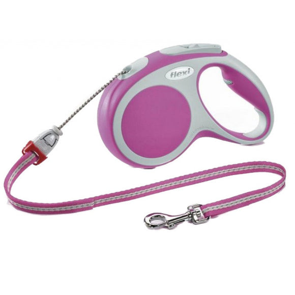 Flexi Vario Retractable Tape Leash - Pink - Yip & Purr® Official Website