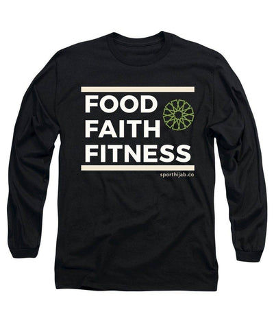 Image of Faith Fitness Food Modest Workout Long Sleeve T-Shirt - sporthijab.co