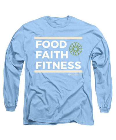 Faith Fitness Food Modest Workout Long Sleeve T-Shirt - sporthijab.co