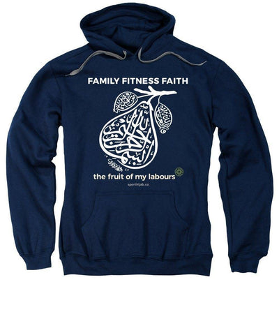 Image of Family Fitness Faith Long Sleeve Modest Hoodie Sweatshirt - sporthijab.co