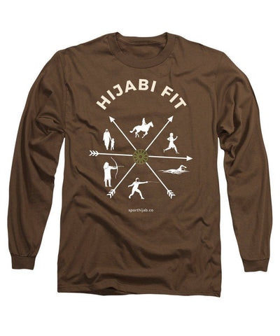 Image of Hijabi Fit Modest Workout Long Sleeve T-Shirt - sporthijab.co