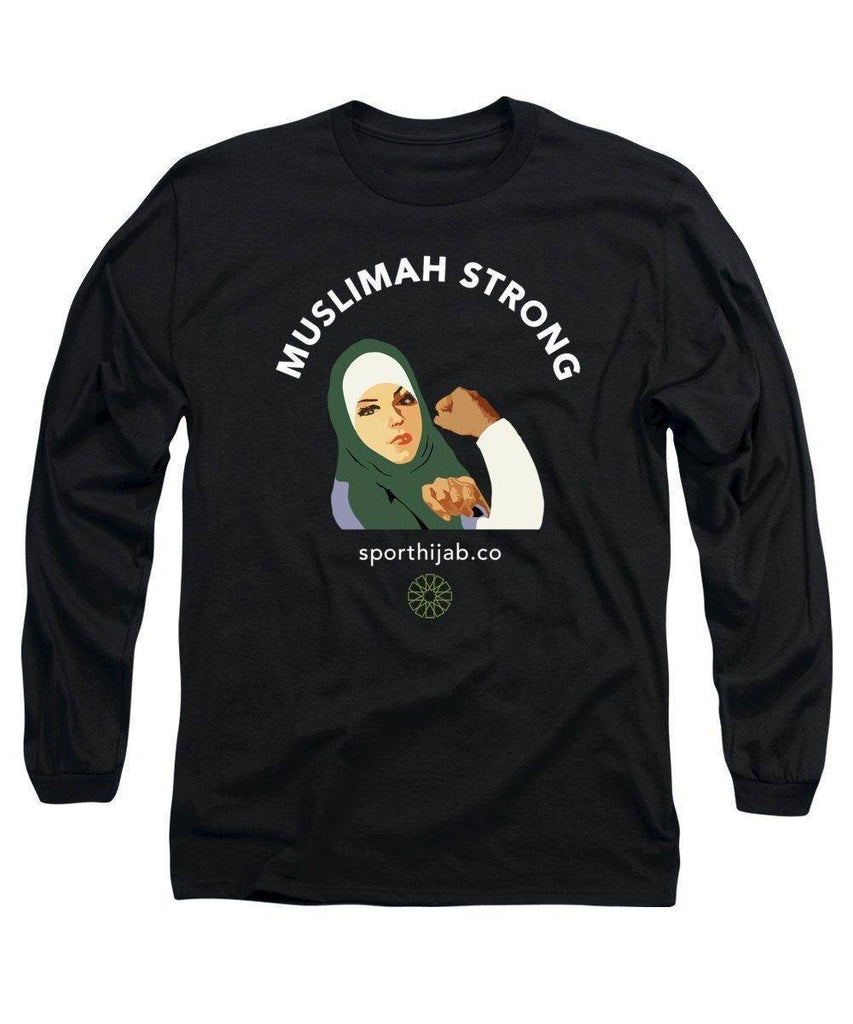 Muslimah Strong Modest Workout Long Sleeve T-Shirt - sporthijab.co
