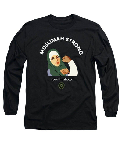 Image of Muslimah Strong Modest Workout Long Sleeve T-Shirt - sporthijab.co