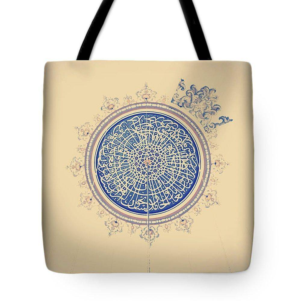 Ottoman Round Tote Bag For Gym Yoga Beach - sporthijab.co