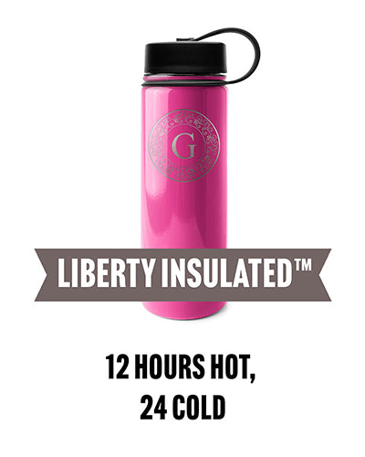 An engraved, insulated bottle