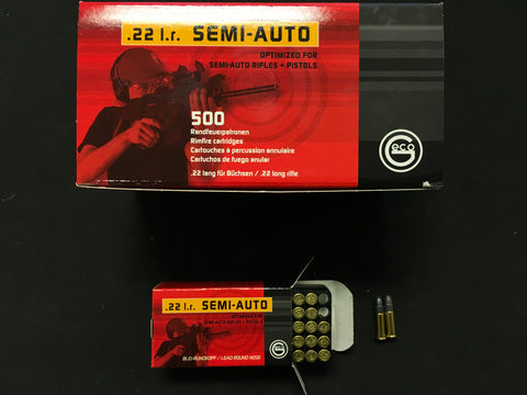 GECO .22 Semi Auto 40gr Ammunition x 500 rounds
