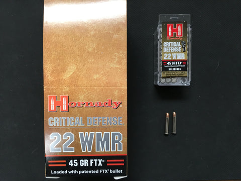 HORNADY .22 WMR Critical Defense 45 grain x 500 rounds