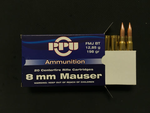 PPU 8mm Mauser 198gr FMJ x 100 rounds