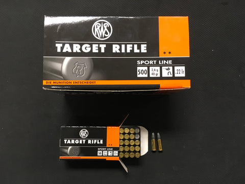 RWS Target Rifle .22 Long Rifle x 500 rounds
