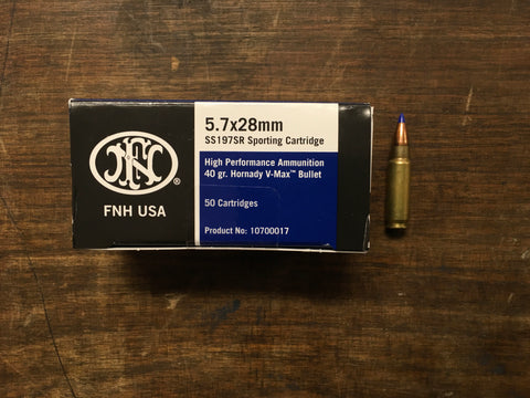FNH USA 5.7x28 40 Grain Ballistic Ammunition x 500 rounds