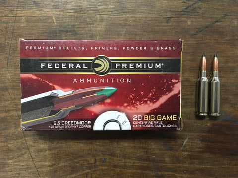 Federal Big Game 6.5 Creedmoor 120 gr x 100 rds