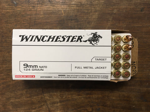 Winchester 9mm NATO 124 gr. x 500 rds