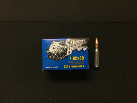 Silver Bear 7.62x39mm 123 Grain HP x 500 rounds