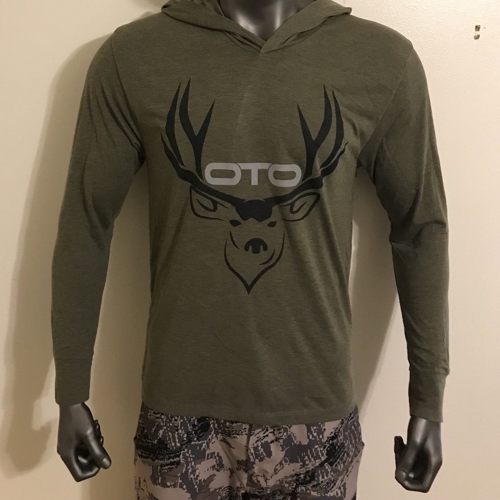 "OTO ""Muley"" Tri-Blend Hoodie - Military Green"