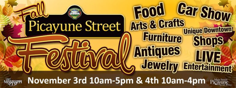 Join us at the Picayune Street Festival November 3rd and 4th