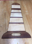 Maple Accented Light house shaped Cutting Board