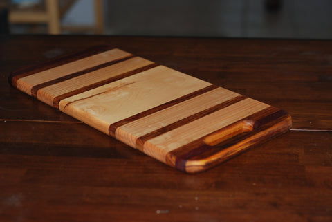 Cutting Board (Purple Heart Maple,canary and walnut)