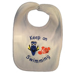 Dory and Nemo Keep on Swimming Baby Bib