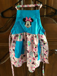Minnie Mouse Child's Apron Blue and Pink