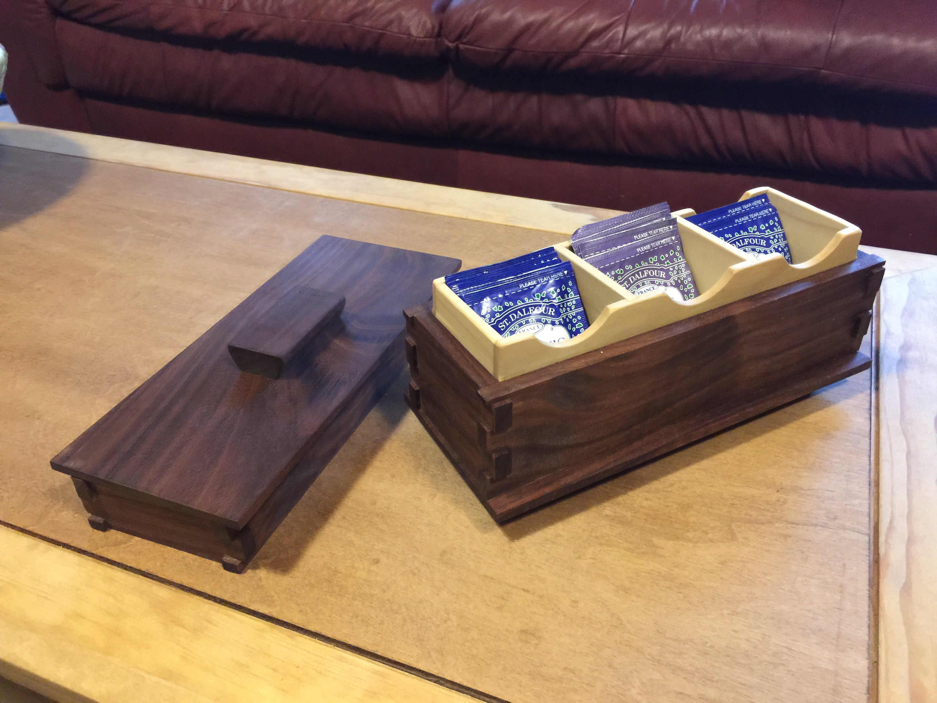 Walnut Treasure Chest for Tea