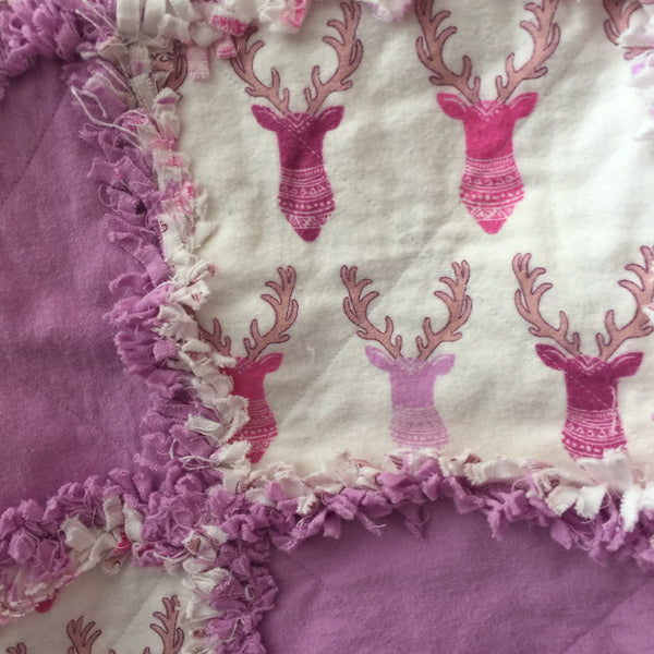 Pink and Purple Deer Heads  RQ081018