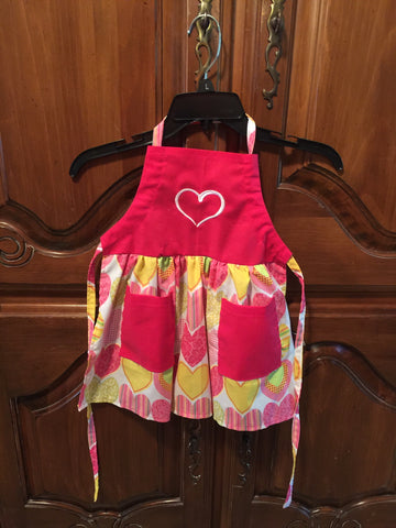 Pink Heart Apron