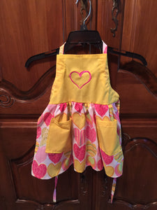 Yellow Heart Apron