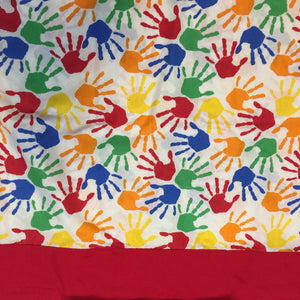 Primary Colored Hands Nap Mat