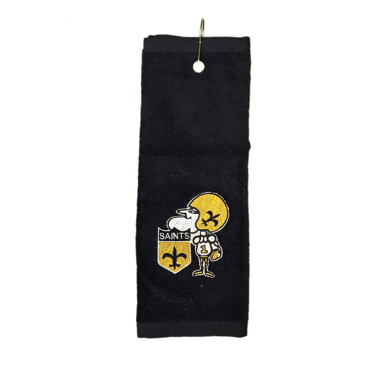 Sir Saint Embroidered on Deluxe Tri-Fold Golf Towel