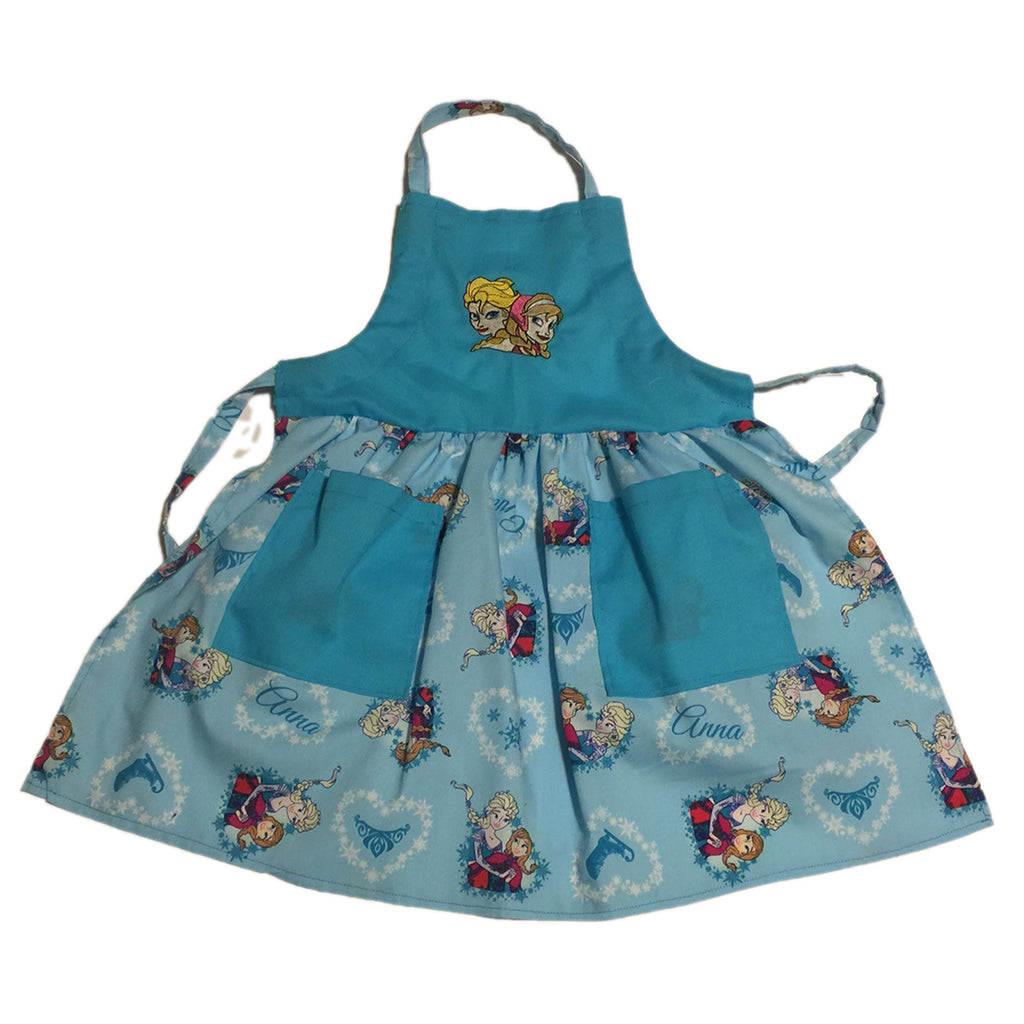 Anna and Elsa from the movie Frozen Child's Apron