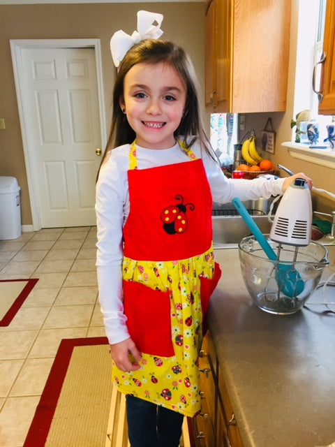 Lady Bug Child's Apron