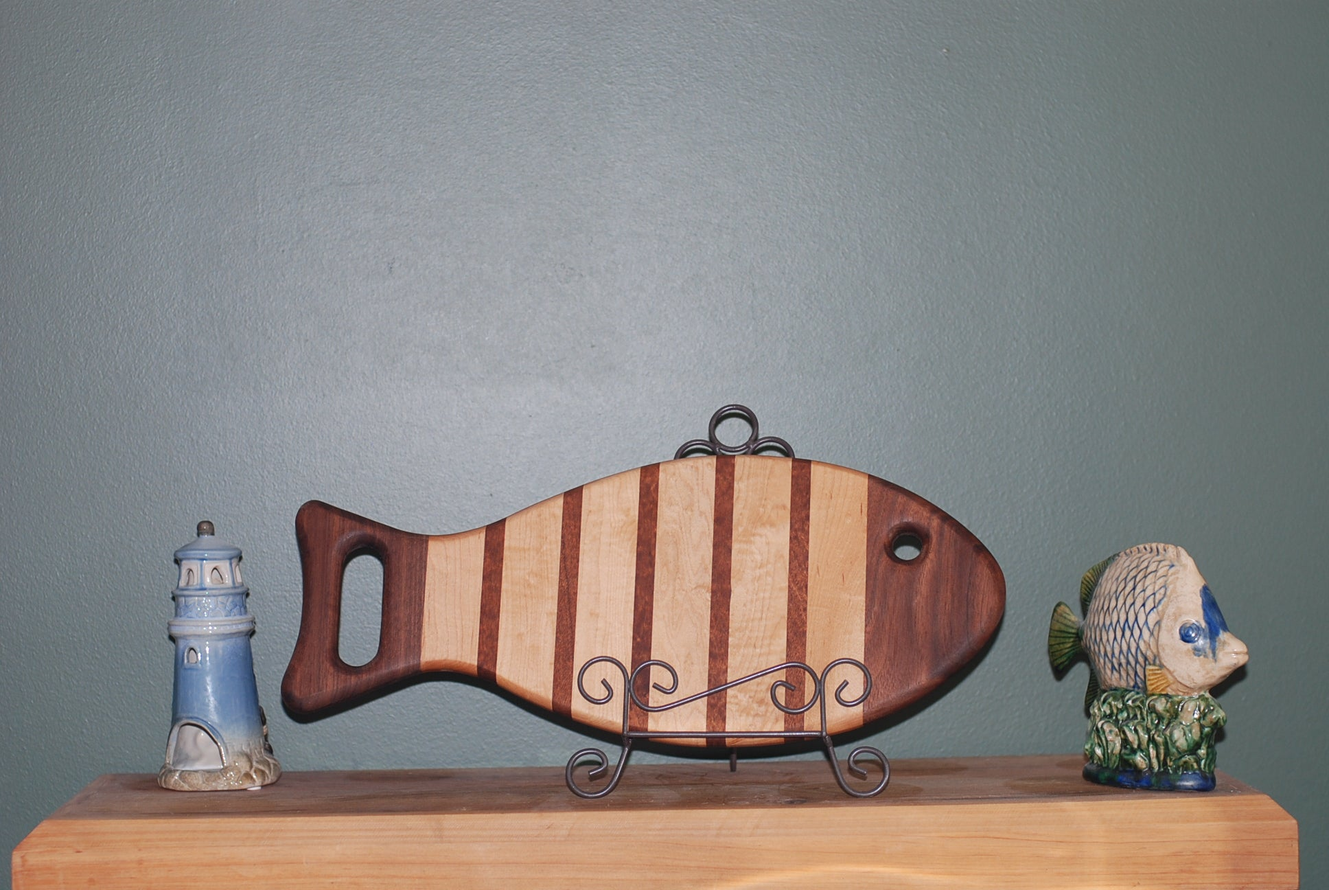 Fish shaped Cutting Board (Maple, Walnut and Cherry)