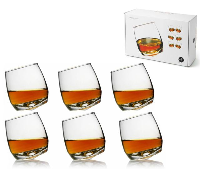 Bar Whiskey Glasses with Rounded Base