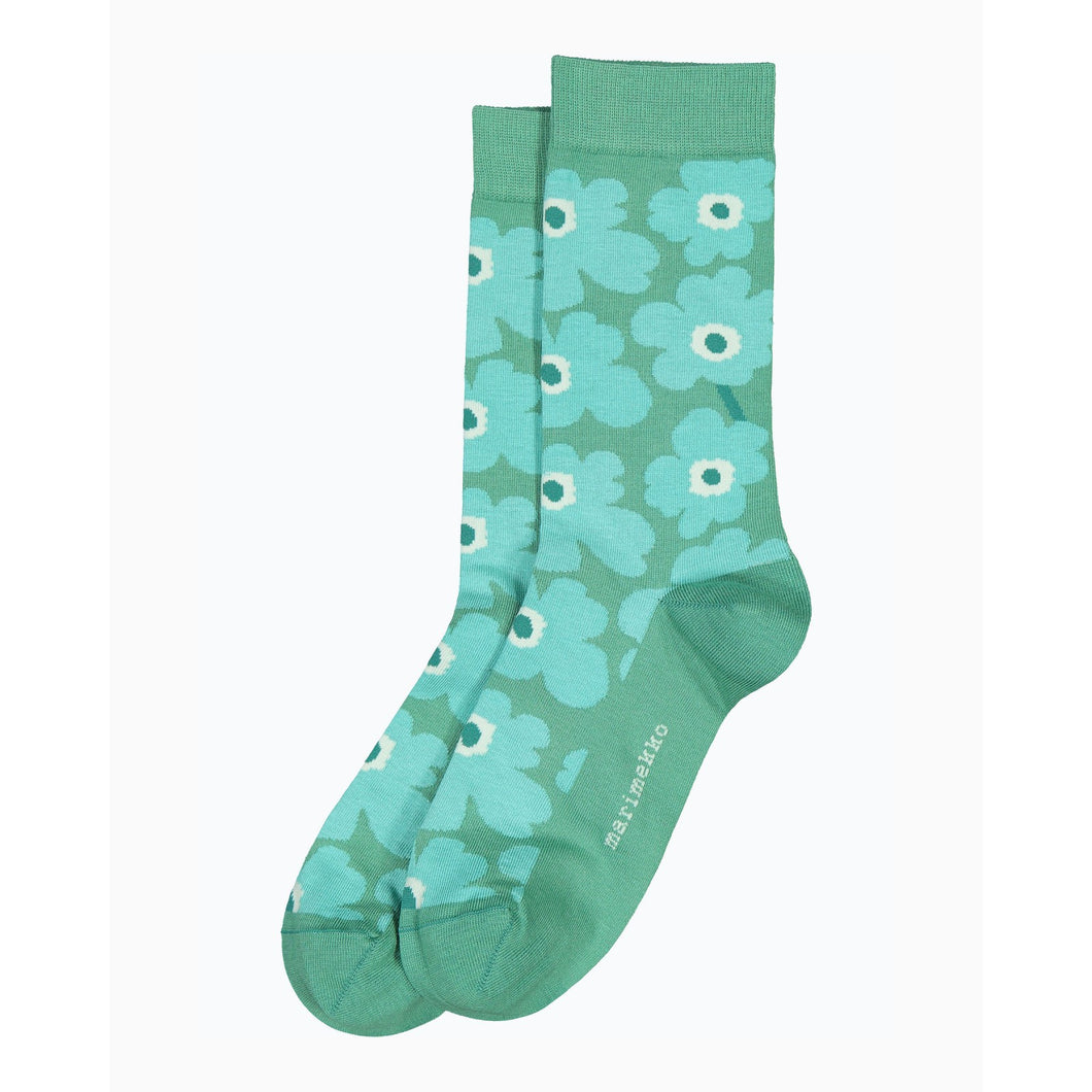 Hieta Ankle Socks Greenish- Grey and Turquoise