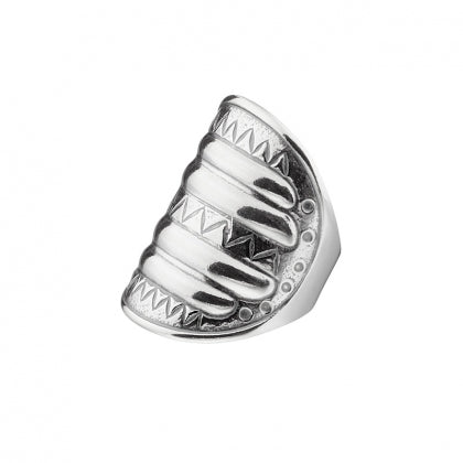 Water Signs Ring Silver