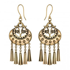 Moon Goddess Bronze Earrings