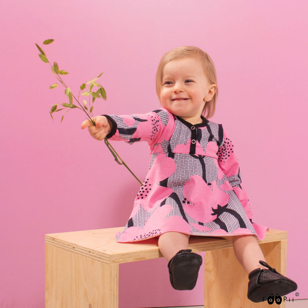 Pink Buttercup Onesie Dress