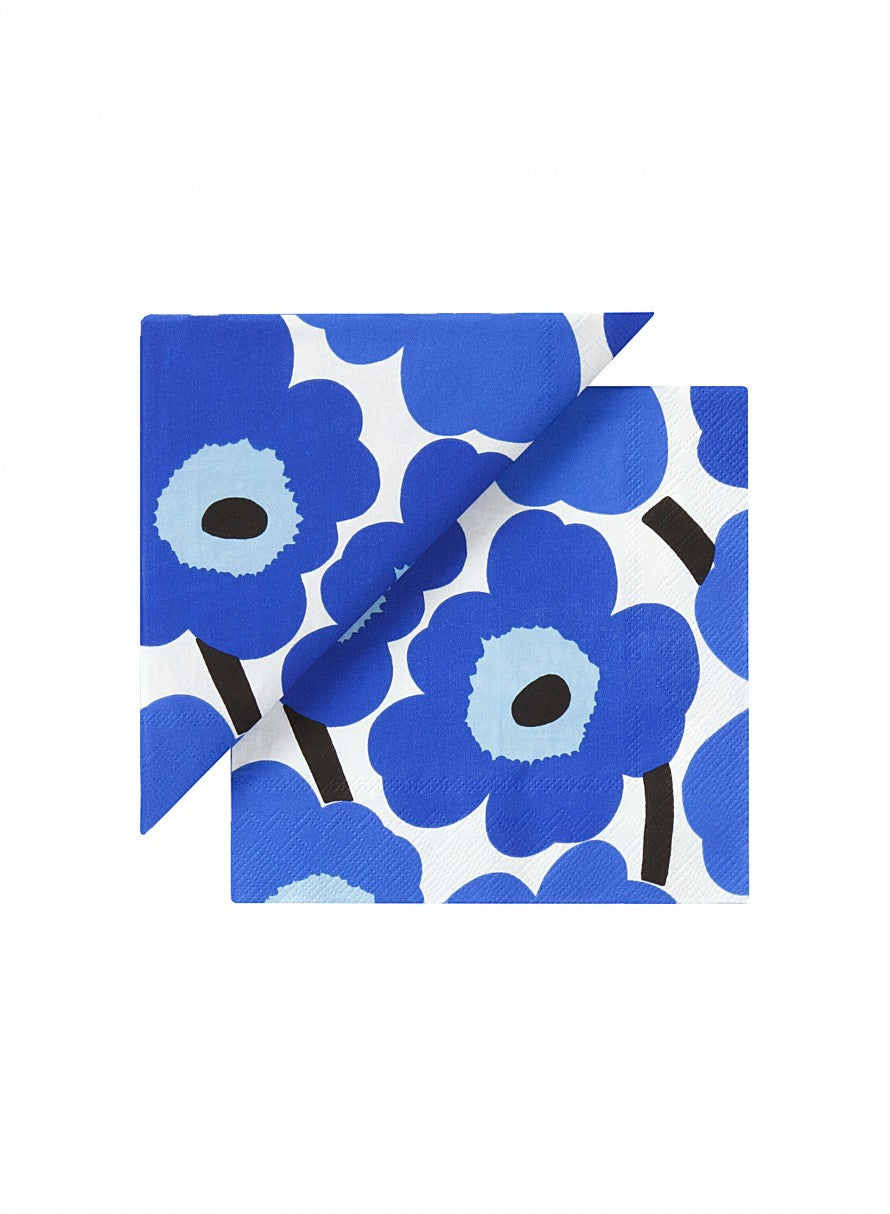 Unikko Blue Cocktail Napkins