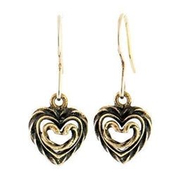 Heart of the House Earrings Bronze