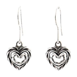 Heart of the House Earrings Silver