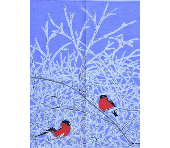 Bullfinch Blue Tea Towel