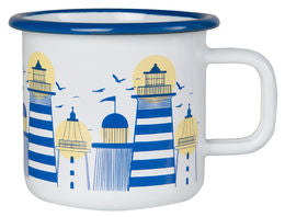Lighthouse Enamel Mug