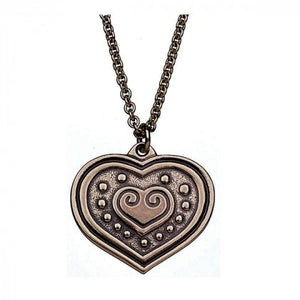 Eura Heart Large Bronze Pendant