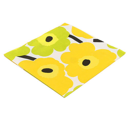 Unikko Yellow Luncheon Napkins